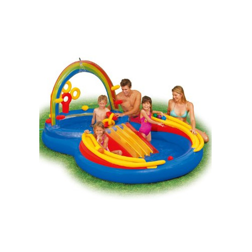 인텍스 레인보우링 아동풀/Intex 117-by-76-by-53-Inch Rainbow Ring Pool Play Center