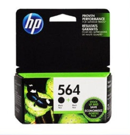 HP 잉크카트리지/NEW Original HP 564 Black 2-PACK C2P51FN- Ink Cartridge SHIPS FAST