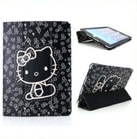 헬로키티 케이스/Cute Printing Folio PU Stand Hello Kitty Skin Case for Apple iPad Mini 2