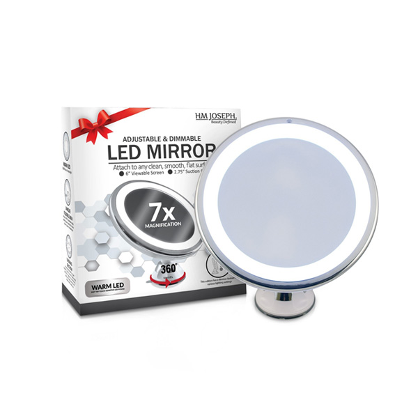 메이크업 LED 조명 무선 거울 화장거울 7배줌 HM Joseph Makeup Mirror Bathroom Wireless Lighted LED Vanity