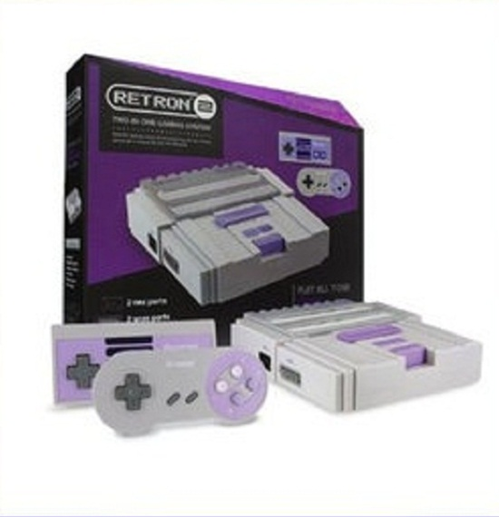 하이퍼킨/비디오게임 콘솔/Hyperkin RetroN 2 SNES / NES Video Games Twin Console