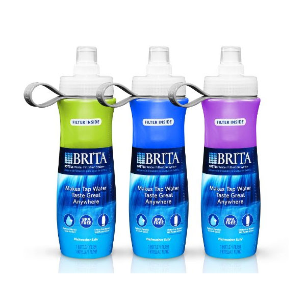 브리타 물병 정수기 3팩Brita Bottle Water Filtration System with 6 Filters (3pk)