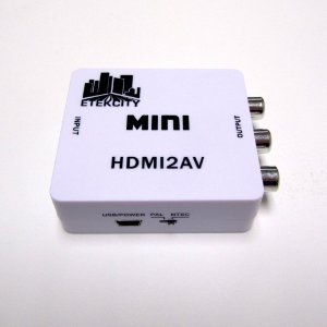 이텍시티 컨버터/Etekcity Mini HDMI to AV Composite RCA CVBS Video + Audio Converter