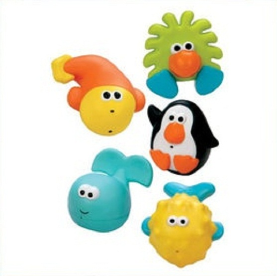 쎄서미 물놀이토이/목욕 완구/물놀이/Sassy Bathtime Pals Squirt and Float Toys 5 Piece Set