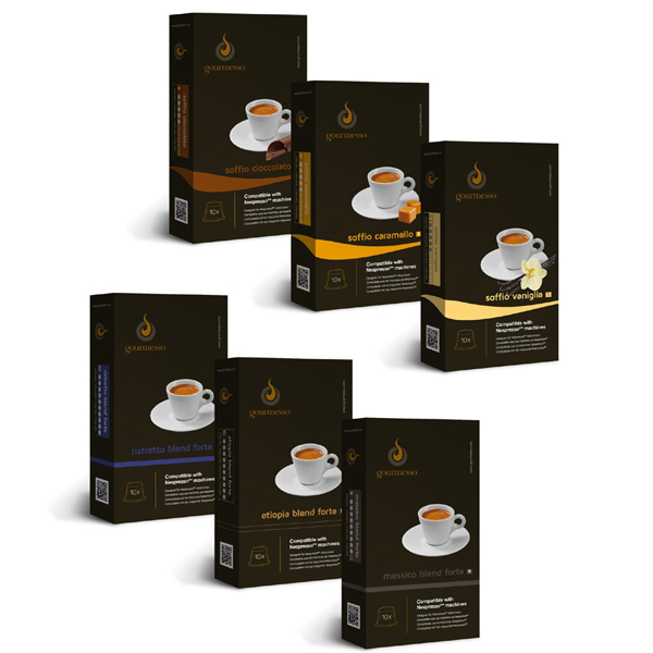네스프레소 커피 캡슐 Nespresso Compatible Coffee Capsules Mini Flavor Bundle
