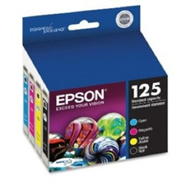 엡손 잉크 카트리지 콤보팩/Epson 125 Ink Cartridge Combo Pack (T125120-BCS)