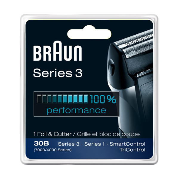 브라운시리즈3 교체형 칼날 Braun Series 3 Combi 30b Foil And Cutter Replacement Pack (7000/4000 Series)