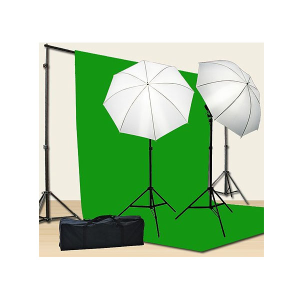 포토 비디오 라이팅 스크린 키트 Chromakey Green Screen Kit 800w Photo Video Lighting Kit